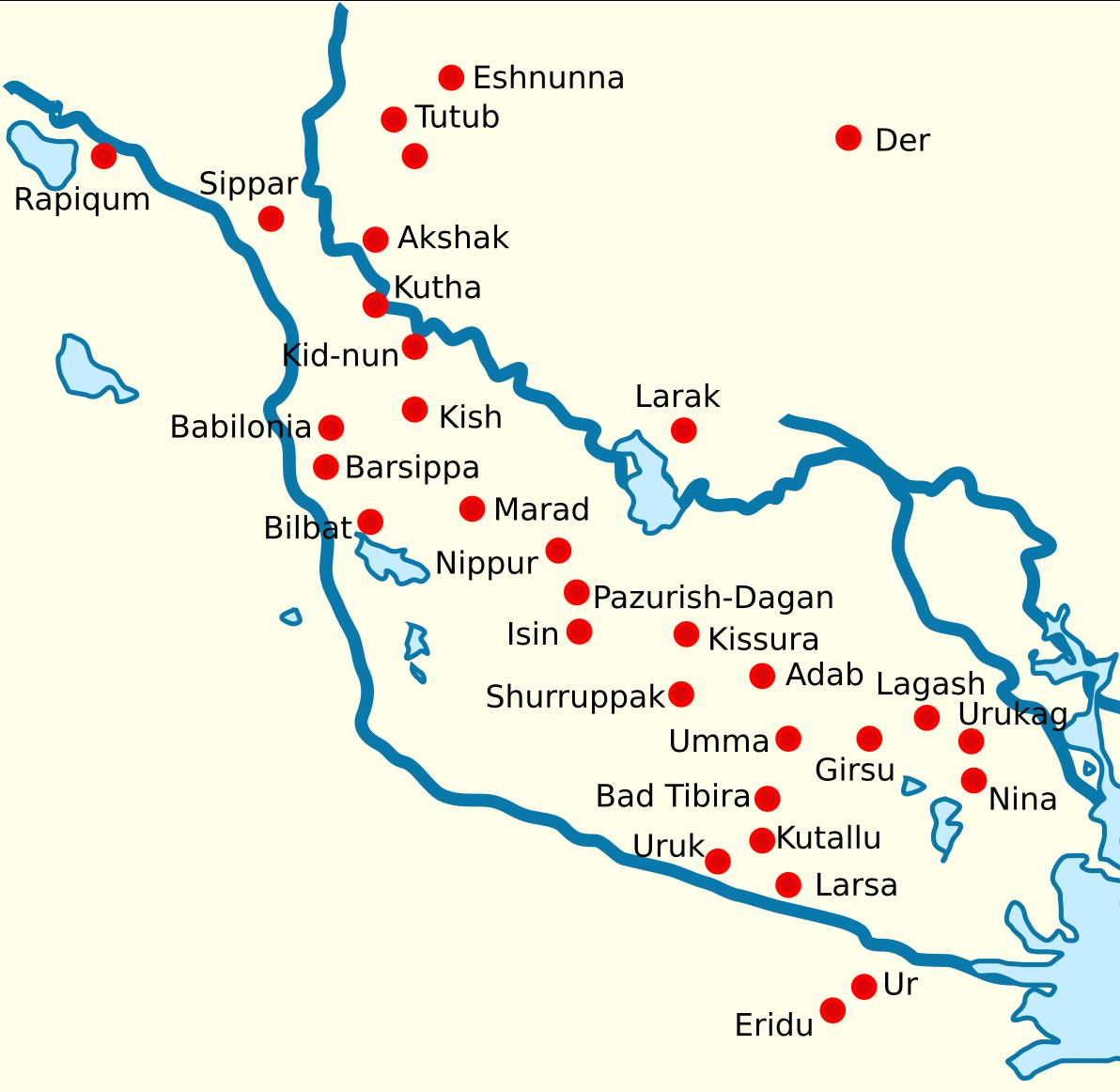 সুমেরীয় শহরগুলো